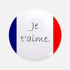 """Je t'aime (I love you) - Ch 3.5"""" Button (100 pack)"""
