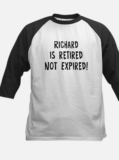 Richard: retired not expired Kids Baseball Jersey