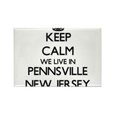 Keep calm we live in Pennsville New Jersey Magnets