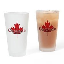Canada: Maple Leaf Drinking Glass