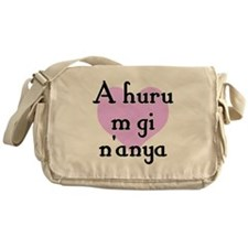 A huru m gi n'anya - Igbo I love you Messenger Bag