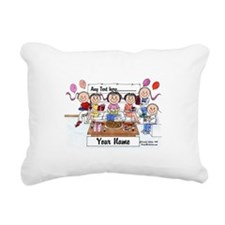 Party, Female Rectangular Canvas Pillow