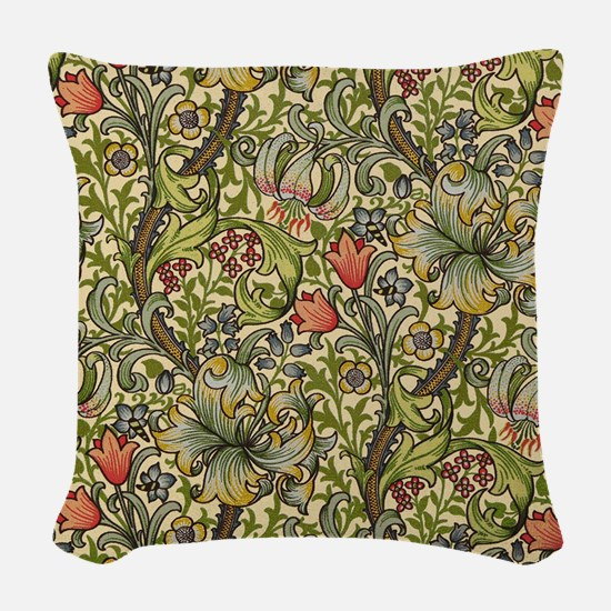William Morris Golden Lily Woven Throw Pillow