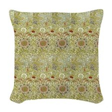 William Morris Corncockle Woven Throw Pillow