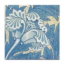 William Morris Blue Tulip Tile Coaster