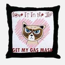 Funny Grumpy cat Throw Pillow