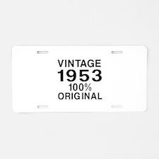 Vintage 1953 Birthday Desig Aluminum License Plate