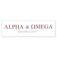 Red Alpha Omega Bumper Bumper Sticker