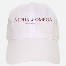 Red Alpha Omega Baseball Baseball Cap