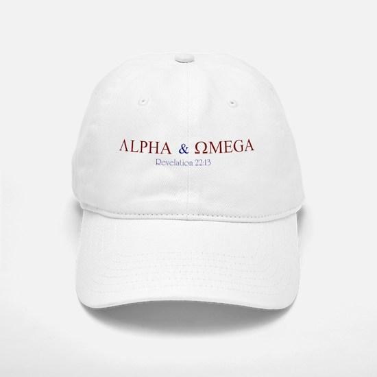 Red Alpha Omega Baseball Baseball Cap