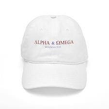 Red Alpha Omega Baseball Cap