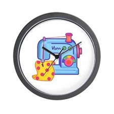 CHILDRENS SEWING MACHINE Wall Clock