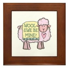 Wool Ewe Be Mine? Framed Tile