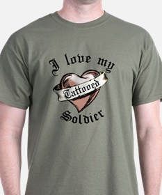 tattooedSoldierred T-Shirt