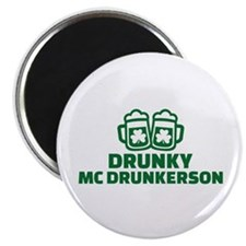 Drunky Mcdrunkerson Magnet