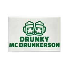 Drunky Mcdrunkerson Rectangle Magnet