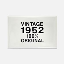 Vintage 1952 Birthday Designs Rectangle Magnet