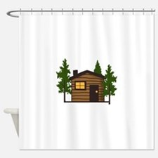 LITTLE CABIN Shower Curtain
