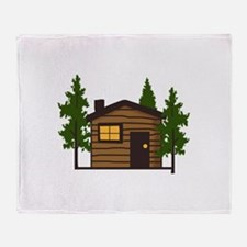 LITTLE CABIN Throw Blanket
