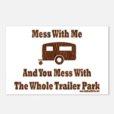 Dont Mess With Trailer Trash Postcards (Package of