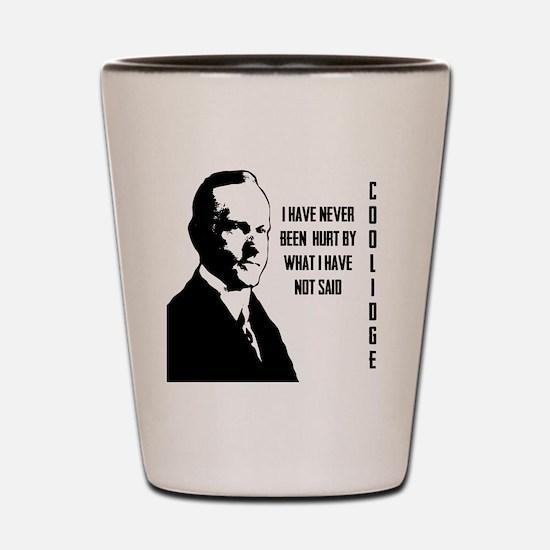 Calvin Coolidge Shot Glass