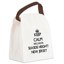 Keep calm we live in Seaside Heig Canvas Lunch Bag