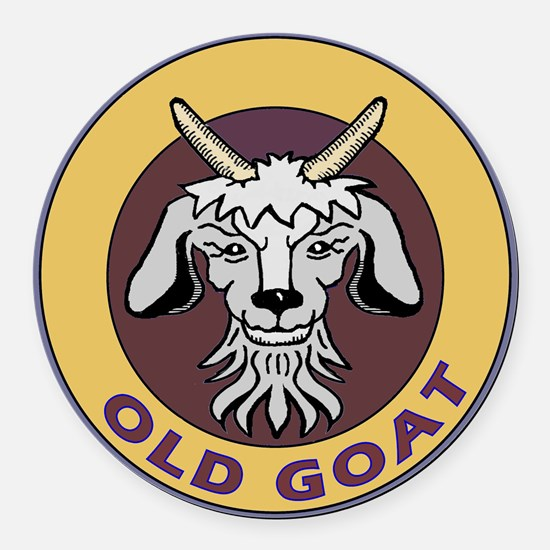 old goat .png Round Car Magnet