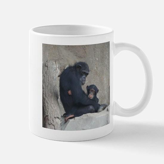 Chimpanzee Baby and Mummy Mugs