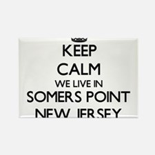 Keep calm we live in Somers Point New Jers Magnets