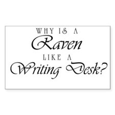 Raven Like a Writing Desk Rectangle Decal