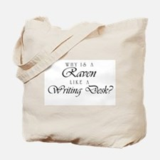 Raven Like a Writing Desk Tote Bag