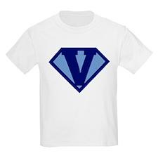 Super Hero Letter V T-Shirt