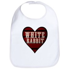 White Rabbit Heart Bib
