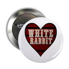 White Rabbit Heart Button