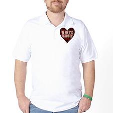White Rabbit Heart T-Shirt