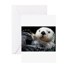 a cute otter Greeting Cards