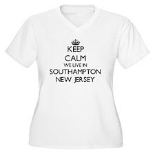 Keep calm we live in Southampton Plus Size T-Shirt