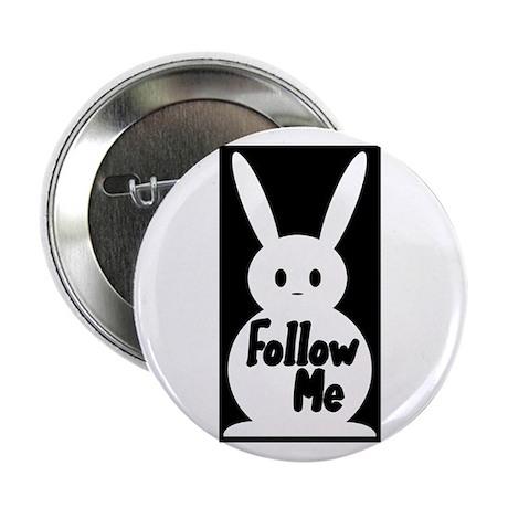 Follow Me White Rabbit Button