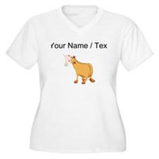 Custom Brown Bull Plus Size T-Shirt