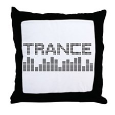 Unique Trance music Throw Pillow