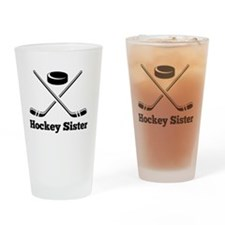 Cute Hockey stick Drinking Glass