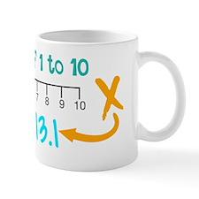 Funny 13.1 only half crazy Mug