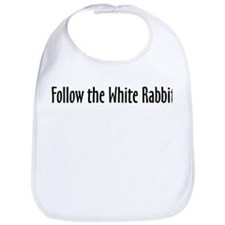 Follow the White Rabbit Bib