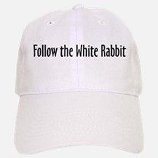 Follow the White Rabbit Baseball Baseball Cap