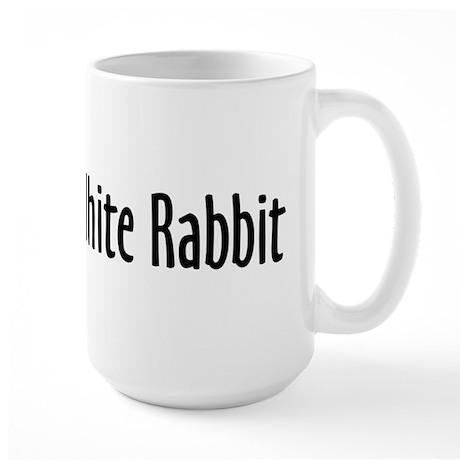 Follow the White Rabbit Large Mug