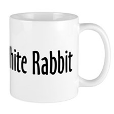 Follow the White Rabbit Small Mugs