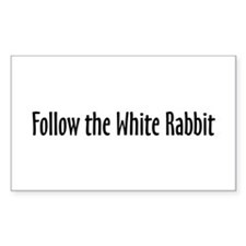 Follow the White Rabbit Rectangle Decal