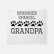 Springer Spaniel Grandpa Throw Blanket