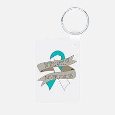 Cervical Cancer Aluminum Photo Keychain