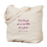 And though she be but little Regular Canvas Tote Bag
